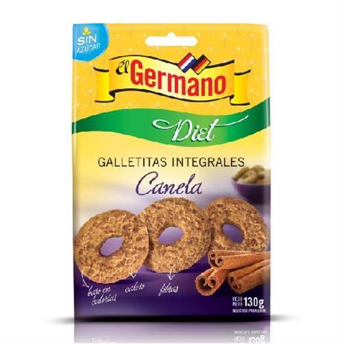 Foto GALLETITA INTEGRAL DIET CON CANELA EL GERMANO 130GR de