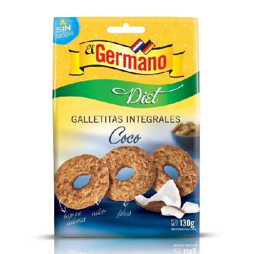 GALLETITA INTEGRAL DIET DE COCO EL GERMANO 130GR
