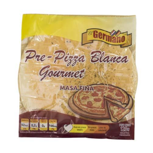 PRE-PIZZA BLANCA GOURMET EL GERMANO 120GR