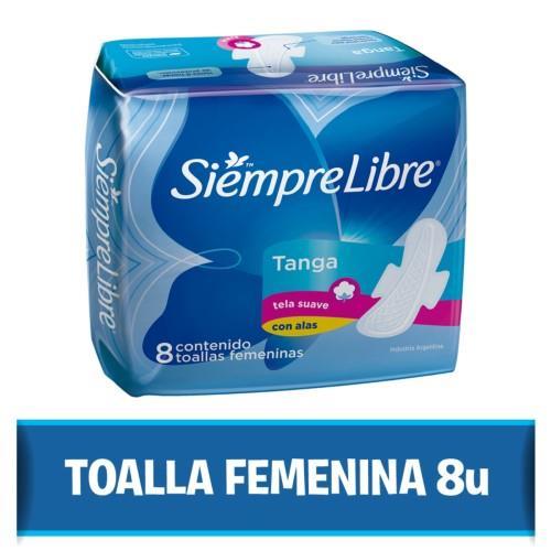 Foto TOALLITA FEMENINA TANGA CON ALAS SIEMPRE LIBRE 8UNID de