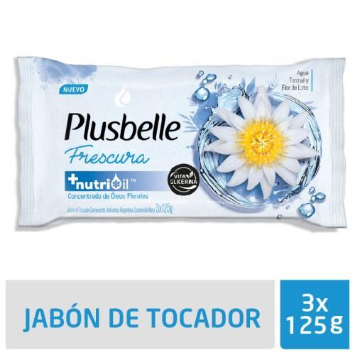Foto JABON DE TOCADOR FRESCURA PLUSBELLE 125GR de