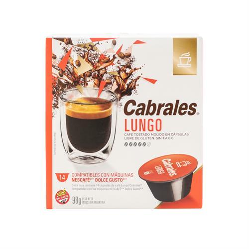 Foto CABRALES LUNGO CAFE TOSTADO MOLIDO 14 CAPSULAS 98 GR de