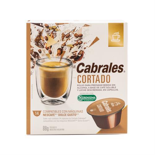 Foto CABRALES CORTADO CAFE SOLUBLE CON LECHE EN POLVO 14 CAPSULAS 88 GR de