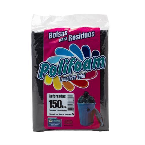 Foto BOLSAS PARA RESIDUOS REFORZADAS 150LT POLIFOAM PAQUETE  de